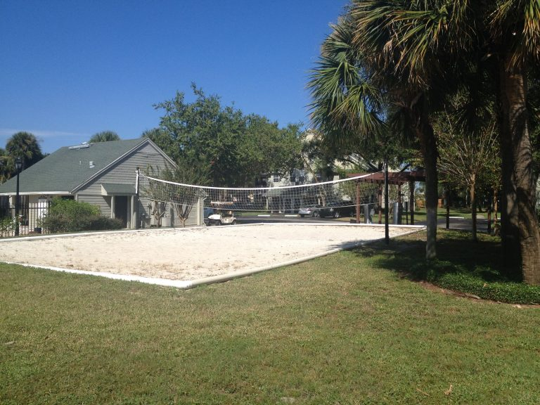 exterieur et terrain de beach volley de la residence central park a orlando en floride