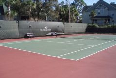 terrain de tennis de la residence central park en floride