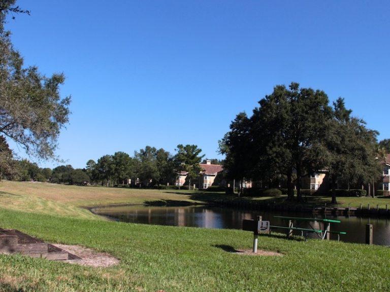 Lac de la résidence de condos à vendre en Floride