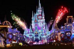 Feux d'artifices de Magic Kingdom pour Noël à Orlando