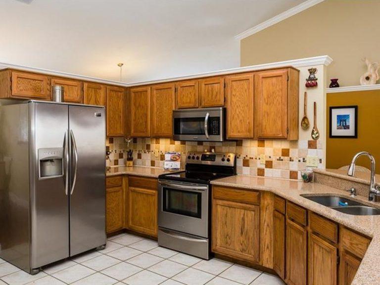 cuisine américaine équipée avec frigo double