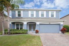 jolie villa aux couleurs bleues en Floride