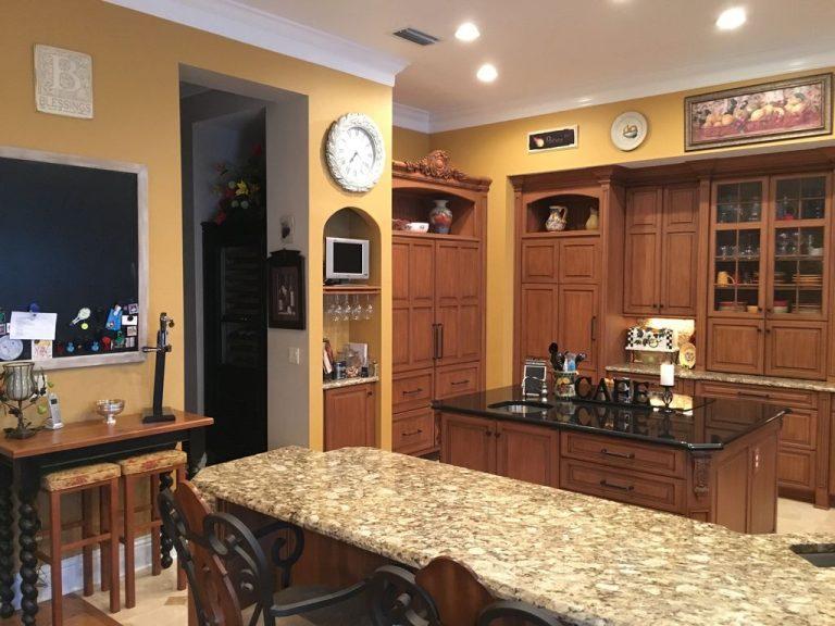 cuisine rustique en bois et marbre