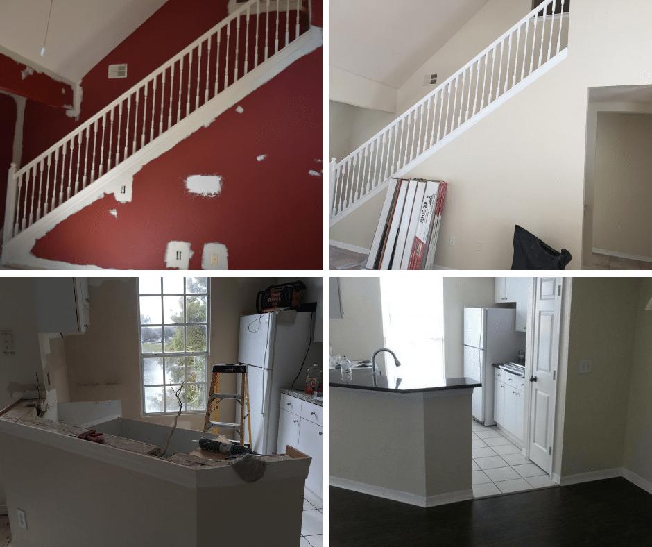 travaux de rénovation des appartements à vendre en Floride avec Auxandra