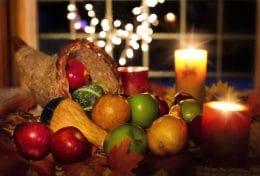 une décoration de thanksgiving aux etats-unis
