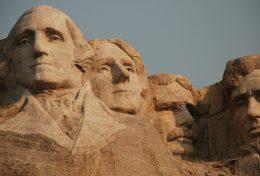 Mont Rushmore emblématique des Etats-Unis