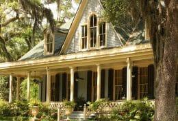 villa typique du sud des etats-unis d'Amérique