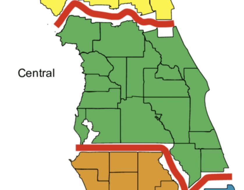 carte de la Floride centrale aux USA