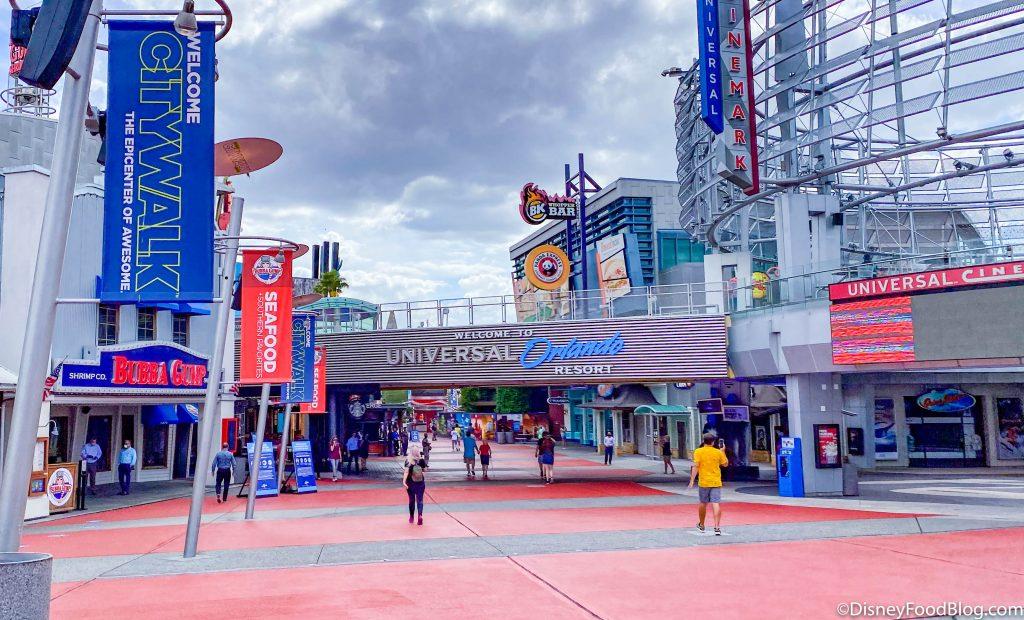 le city walk des studios universal à Orlando, zone commerciale