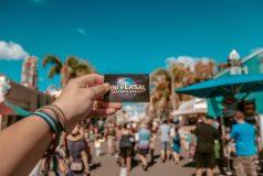 pass d'un touriste allant à universal studios à Orlando en Floride pendant le spring break