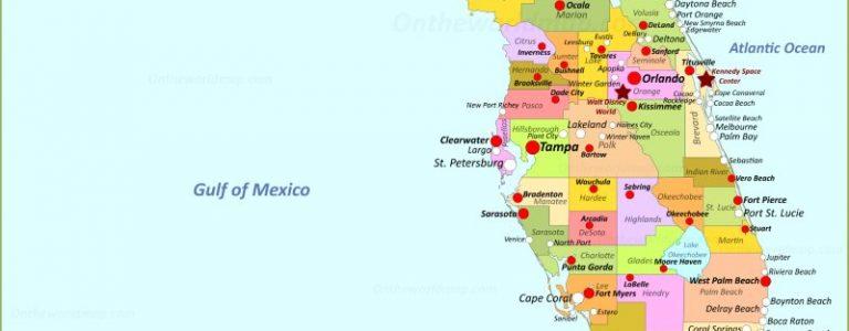 carte des villes de floride