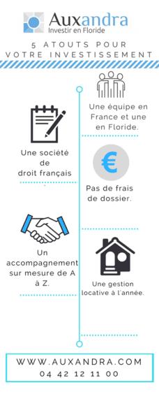 infographie auxandra sur les atouts d'un investissement a orlando