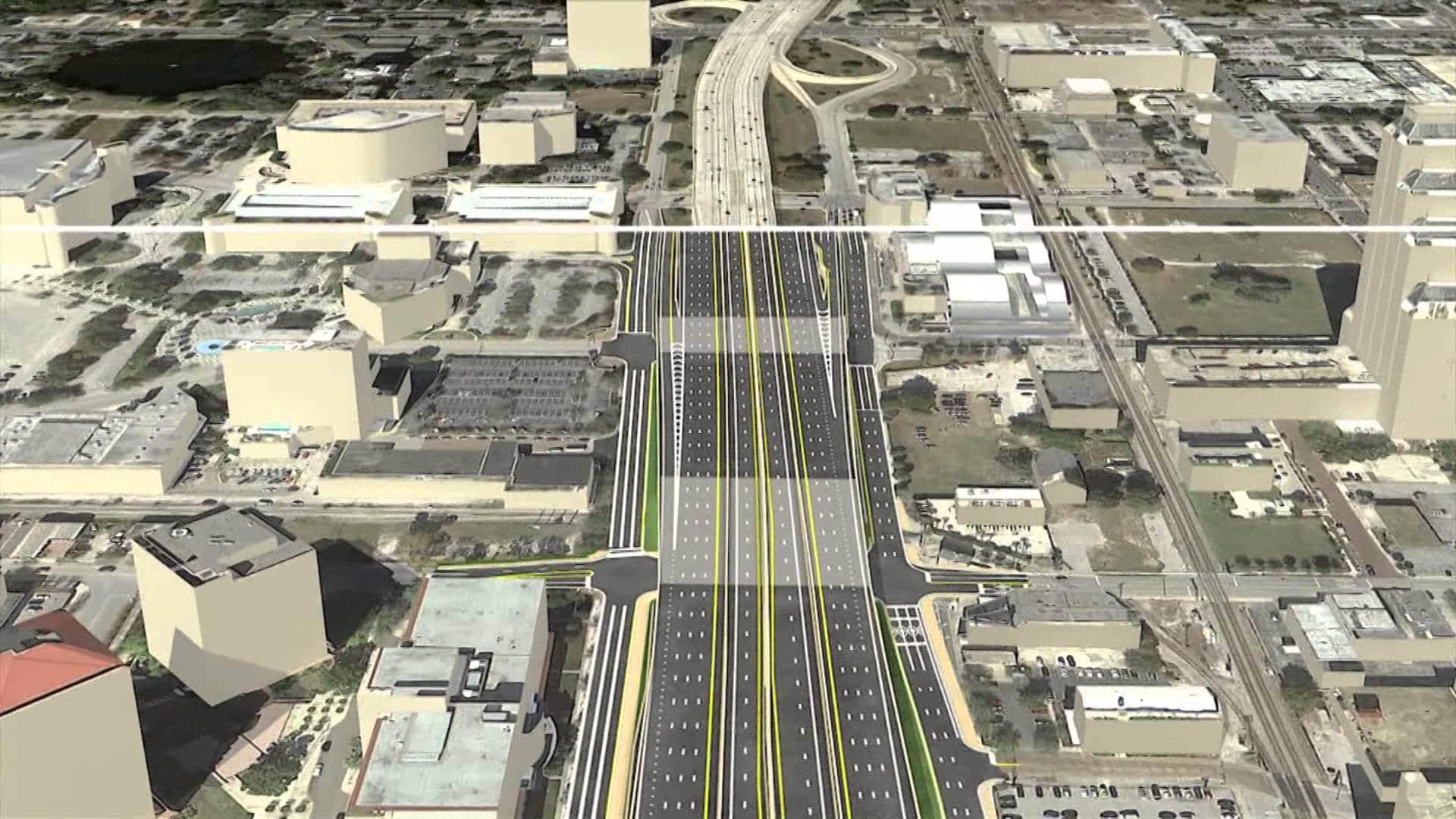 Projet d'agrandissement de la I4 à Orlando en Floride