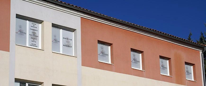 bureaux de la société de gestion de patrimoine Auxandre, siège également de la société Auxandra.