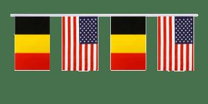 drapeaux de la Belgique et des USA
