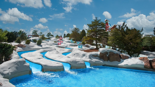 le parc aquatique de Blizzard beach en Floride