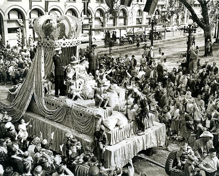 Char du carnaval de Mardi Gras dans les année 30 en Amérique