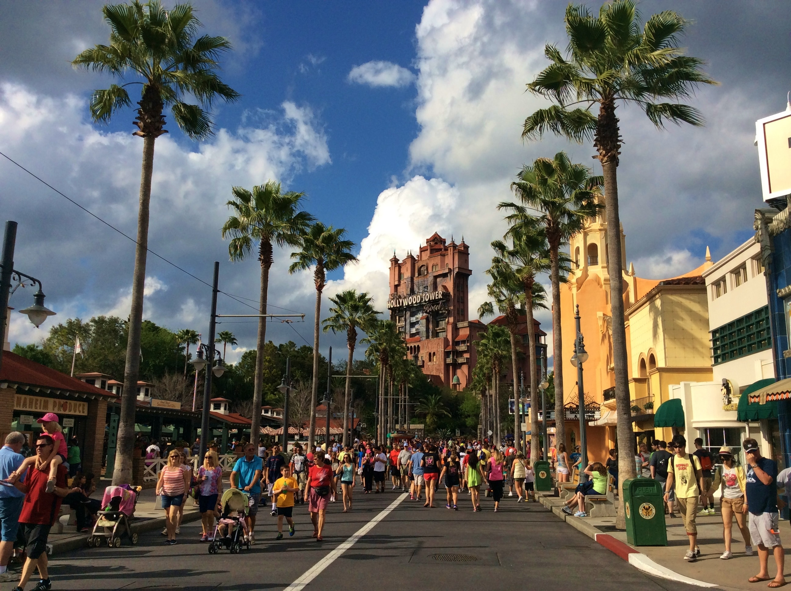 Rue du parc Disney Studios à Orlando en Floride
