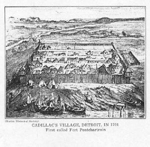 fort ponchartrain de détroit, premier nom de la ville de détroit aux USA