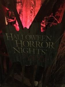 Décoration murale pour Halloween Horror Night au parc d'Universal Studios à Orlando en Septembre 2015