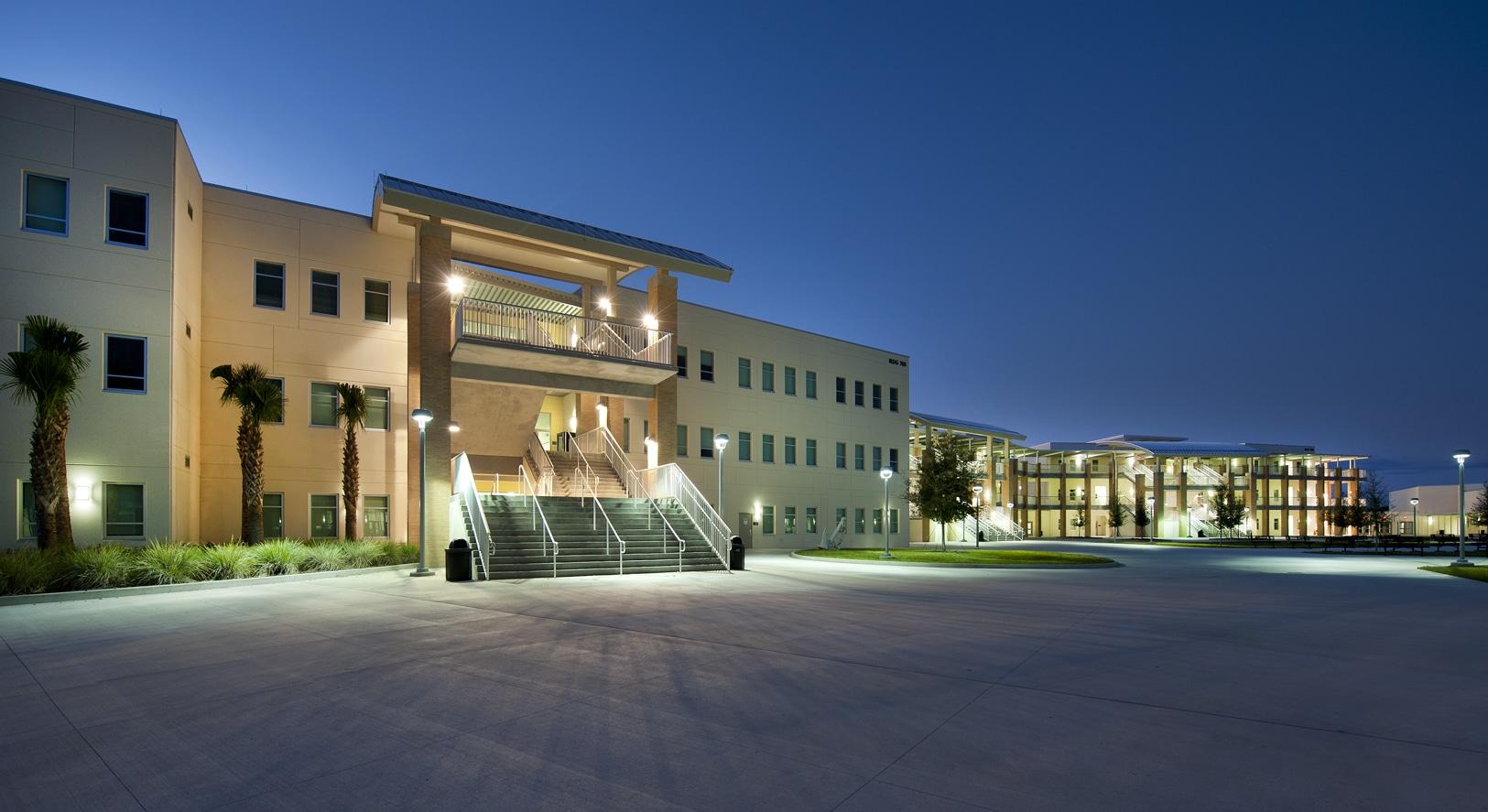 Lycée américain appelé High School en Floride