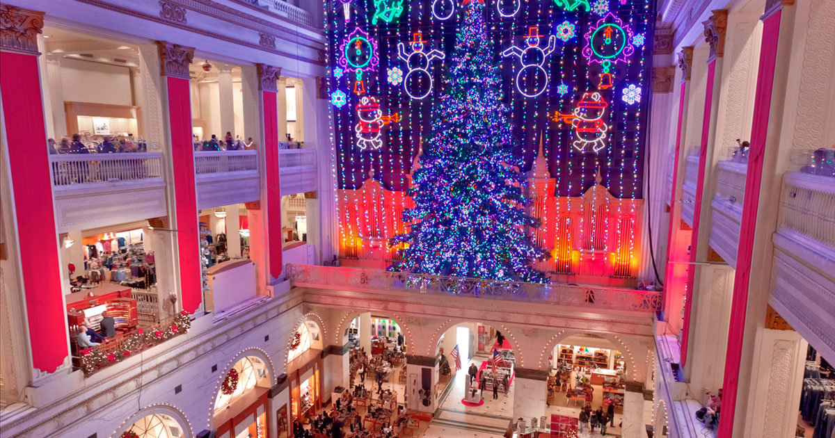 Décorations de Noël du magasin Macy's à New-York