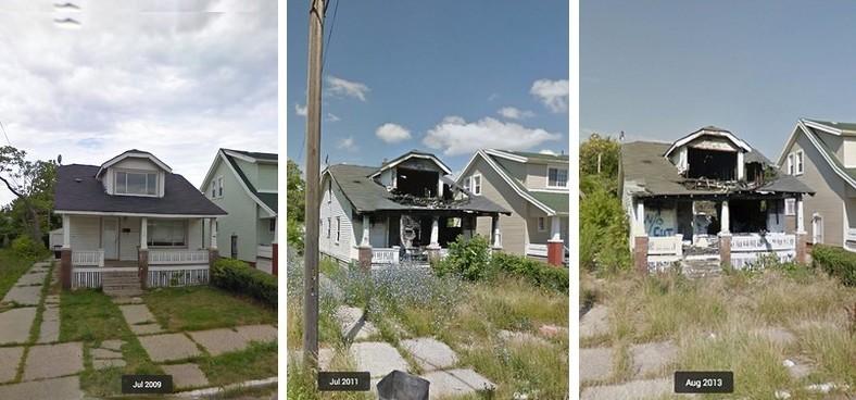 evolution de l'etat d'une maison dans detroit de 2009 a 2013