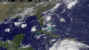 La Floride vu du ciel à l'approche d'un ouragan