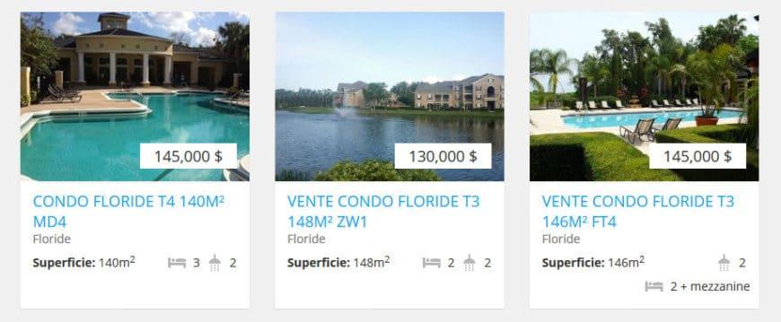 immobilier a vendre en floride